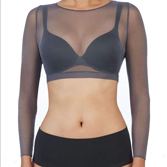 171b2a5eaa8e4 Spanx Women Sheer Long Sleeve Mesh Crop Top 20156R